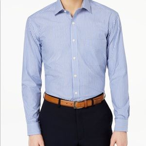 Men's Classic/Regular Fit Stripe Dress Shirt,